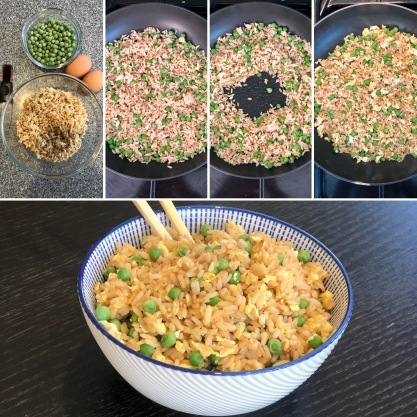egg fried rice steps